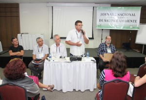 Realidade: Francisco Edilson Neto, do Sindicato de Trabalhadores do Apodi, falou do problema da água enfrentado pelos seus companheiros agricultores e emocionou os participantes da jornada (Foto: Diego Camelo)