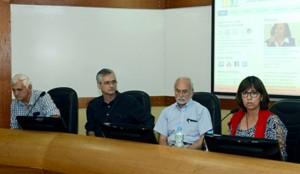 Patrícia Tavares Ribeiro e Alberto Pellegrini Filho falaram sobre o trabalho do CEPI DSS e o desenvolvimentdo campo dos DSS/ Foto: Virgínia Damas/ENSP/Fiocruz