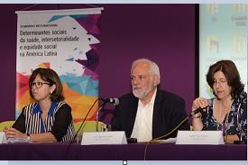 Patrícia Ribeiro, Luiz Augusto Galvão e Isabel Senra no encerramento do evento/ Foto:  Raquel Portugal / Multimeios - ICICT