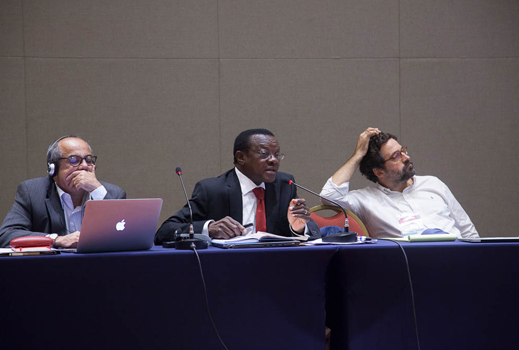 Patrick Kadama afirmou que o acesso limitado a recursos financeiros é a principal dificuldade para a implementação dos ODSs (foto: Pedro Linger)